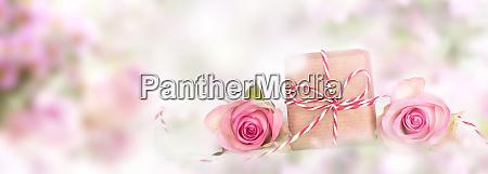 rosa dekoration fuer muettertag