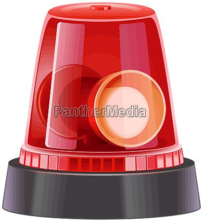 drehfeuer polizei ambulant rote licht illustration