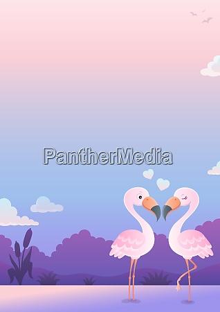 valentine flamingos thema bild 6