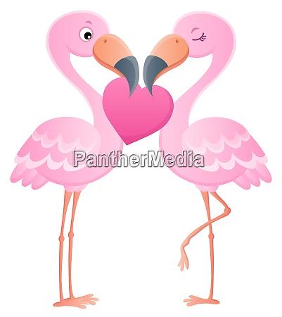 valentine flamingos thema bild 7