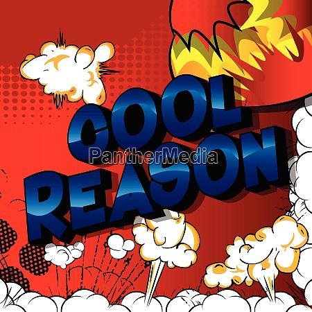 cool reason vector illustrated comic