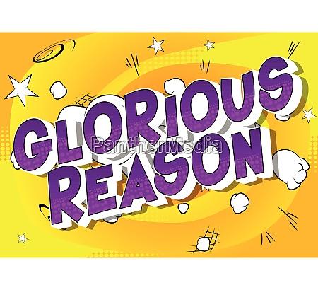 glorious reason vector illustrated comic