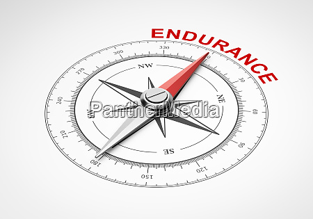 compass on white background endurance concept