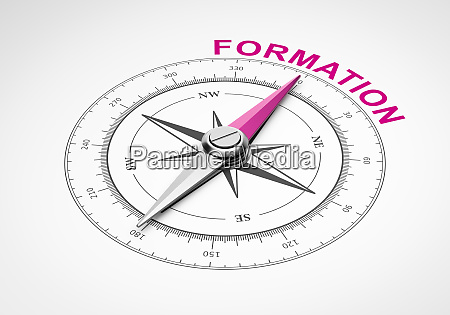 compass on white background formation concept