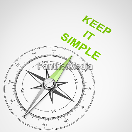 compass on white background keep it