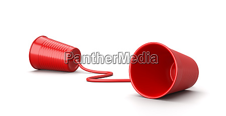 red plastic cup phone on white