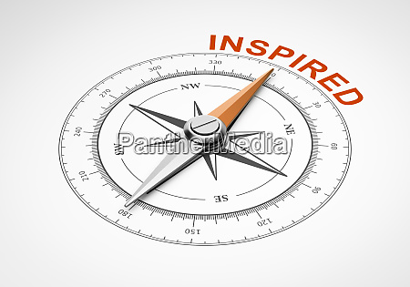 compass on white background inspired concept