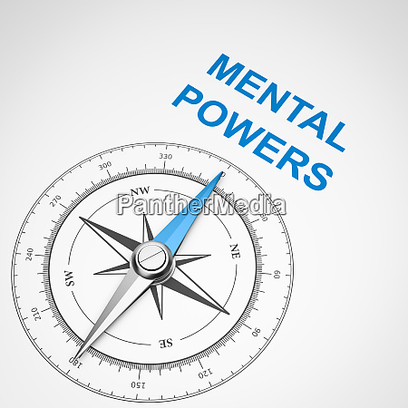 compass on white background mental powers