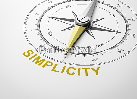 compass on white background simplicity concept