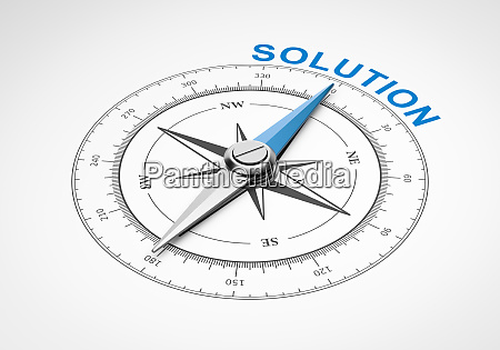 compass on white background solution concept