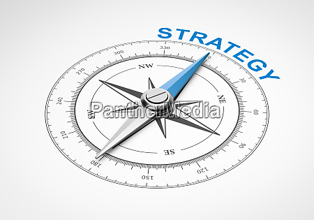 compass on white background strategy concept