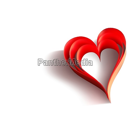 valentines day background with paper heart