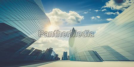 city in clouds 3d rendering