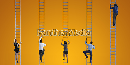 business, people, climbing, ladders - 26179018