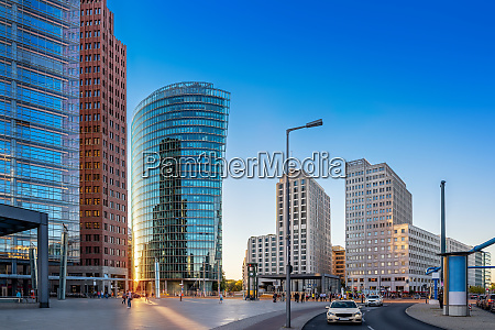 panoramablick auf den potsdamer platz berlin