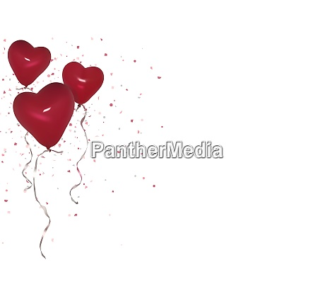 red valentine party ballons background