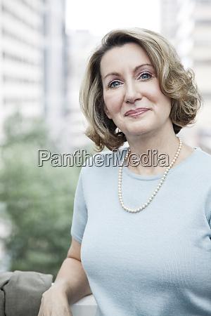 portrait of a caucasian businesswoman in