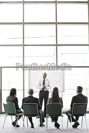 a small group of business people