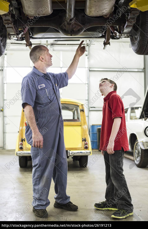 a, caucasian, senior, male, car, mechanic - 26191213