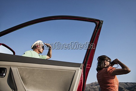 an hispanic senior couple enjoying the