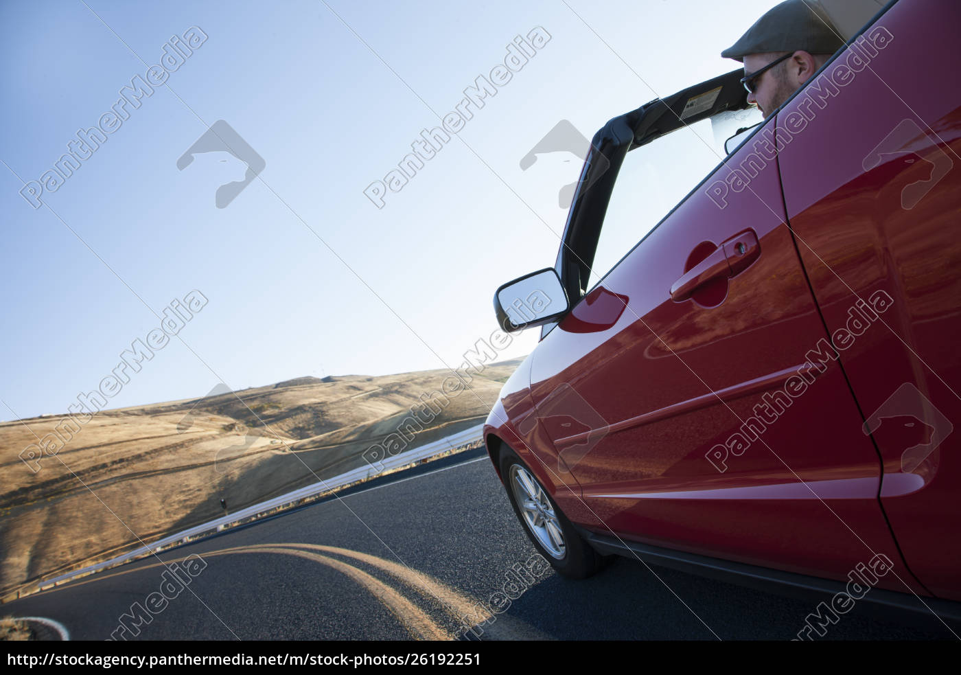 caucasian, male, driving, a, convertible, sports - 26192251