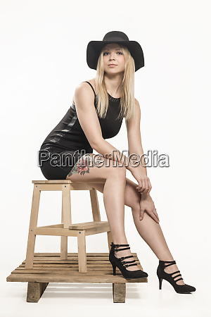 fashion shoot with hat