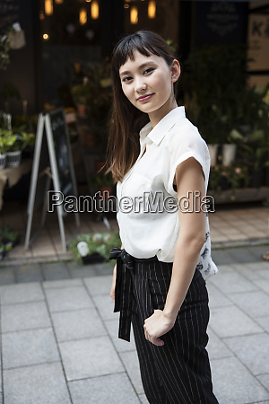 japanese woman with long brown hair