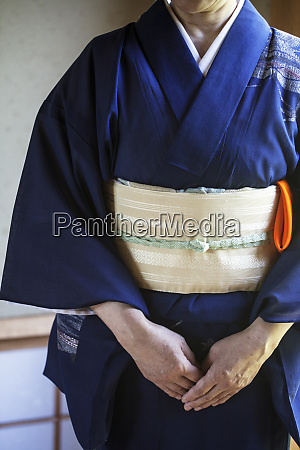 close up of japanese woman wearing