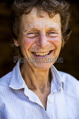 portrait of smiling senior woman looking