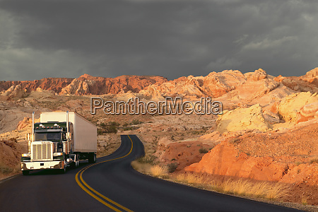 a commercial sleeper truck on the