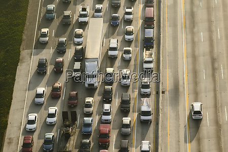 view of cars on a freeway