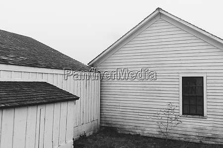outbuildings and barn on farm in