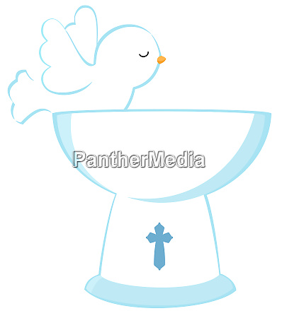 baptism newborn dove peace purity holy