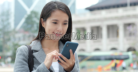 business woman use of smart phone