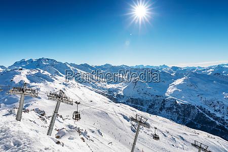 beautiful landscape view of meribel ski