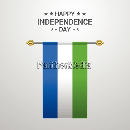 sierra leone unabhaengigkeitstag haengen flagge hintergrund