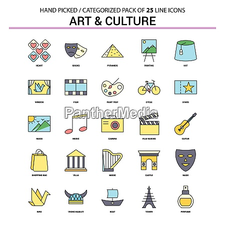 art and culture flat line icon
