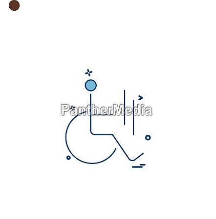 handicap icon design vector