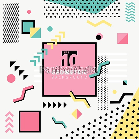 abstract background geometric pattern design memphis