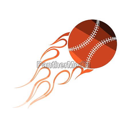 baseball fire ball icon baseball fire
