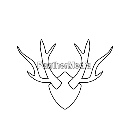 icon of deerrsquos antlers thin