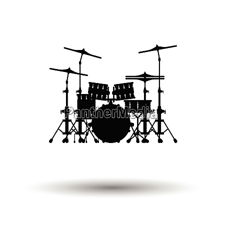 drum set icon white background with