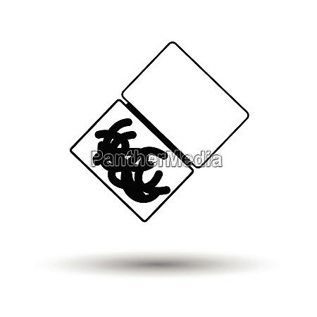 symbol des wurmcontainers weisser hintergrund mit