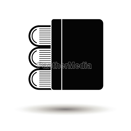 stack of books icon white background