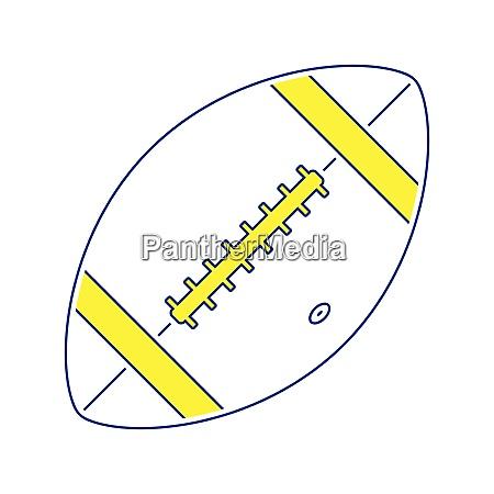 ikone des american football balls duennelinie