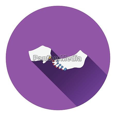pedikuere ikone flache farbgestaltung vector illustration