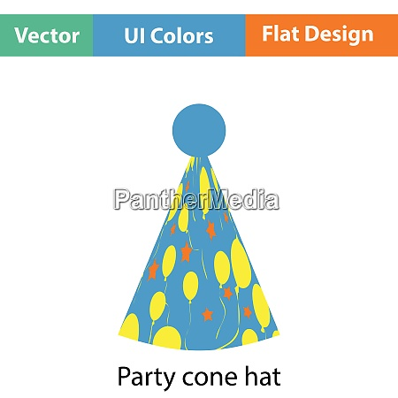 party cone hat icon flat color