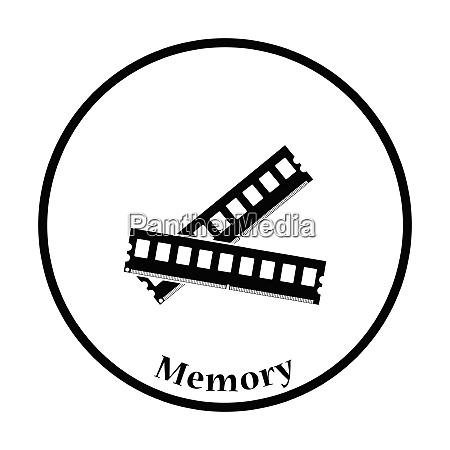 computer memory icon flat color design