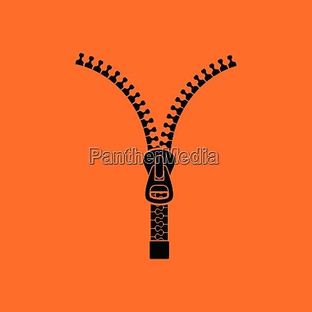 sewing zip line icon orange background