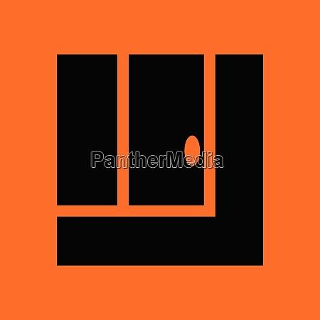 tennis wiederholungsball in ikone orangefarbener hintergrund